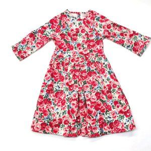 Cath Kidston Kids Red Roses Floral Textured Dress